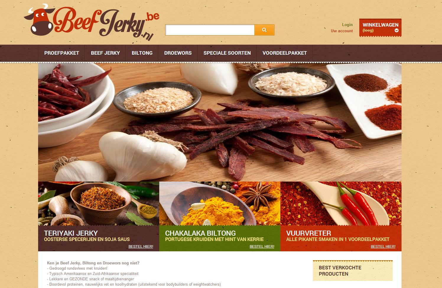 Beef Jerky webshop